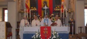 Celebración de la Santa Misa en la parroquia San Fernando