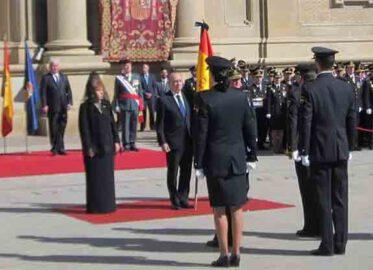 Entrega de la Bandera de España a la Jefatura Superior de Policía de Aragón