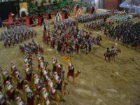 Representación de una batalla medieval