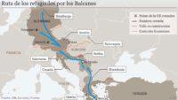 Ruta de los refugiados por los Balcanes