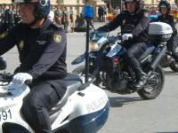 Desfile de unidades motorizadas
