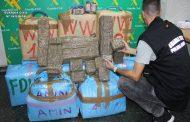 La Guardia Civil incauta 380 kg de hachís que eran transportados en un vehículo ligero destinado a mercancías