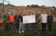 BRILIB XXIX y UNESCO Aragón inauguran de un campo multideportivo en Kleyaa