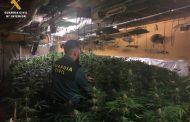 La Guardia Civil interviene más de 1600 plantas de marihuana en el interior de una vivienda del término municipal de Garrapinillos