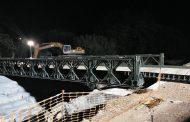 Montaje de un puente militar por parte del Regimiento de Pontoneros y Especialidades de Ingenieros nº12
