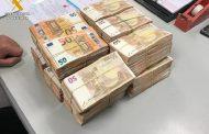 La Guardia Civil interviene 300.000 euros en metálico que eran transportados en el interior de un turismo sin haber sido declarados