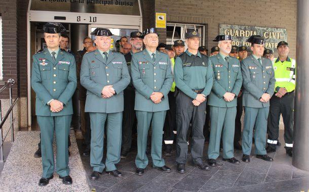 La Guardia Civil de Zaragoza guarda un minuto de silencio conmemoración XV aniversario atentado terrorista 11M