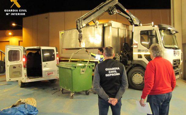 Incautados 761 kg de siluros y carpas que eran transportados en una furgoneta, capturados con artes prohibidas y destinados al consumo humano
