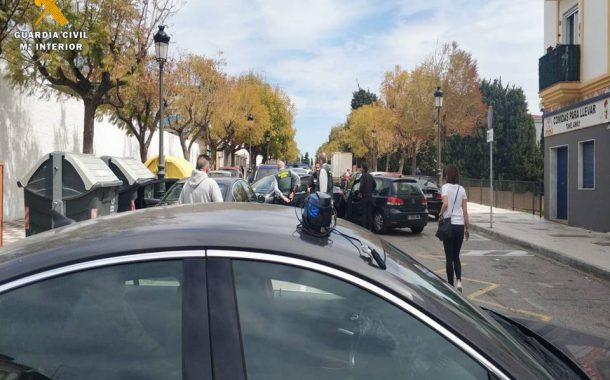 """La Guardia Civil desarticula una organización criminal especializada en dar """"vuelcos"""" a otros grupos criminales que trafican con sustancias estupefacientes"""