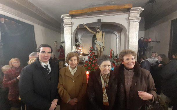 La Sección de Aragón participa en el acto de desagravio por la profanación de la Ermita del Santo Sepulcro de Tauste (Zaragoza)
