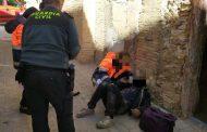 La Guardia Civil rescata a una persona del interior de una vivienda incendiada en Borja