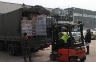 Apoyo de la AALOG 41 en Zaragoza. Transporte de alimentos