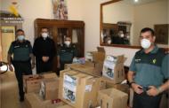 La Guardia Civil dona 600 kilos de alimentos a Cáritas Castrense Aragón