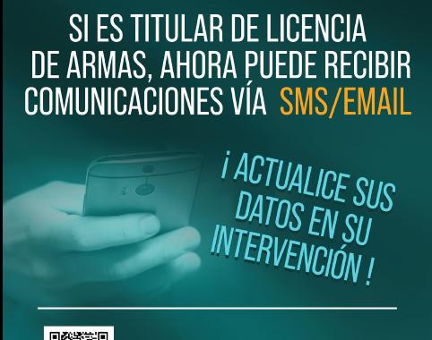 Las Intervenciones de Armas y Explosivos de la Guardia Civil comienzan a informar a los ciudadanos por email y SMS