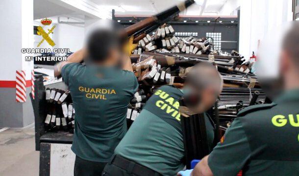La Guardia Civil destruyó más de 60.000 armas durante el año 2020